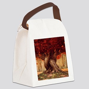 Enchanted Tree Canvas Lunch Bag