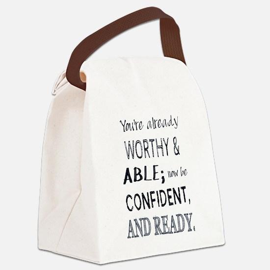 Black Man Confidence Canvas Lunch Bag