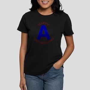 Happy, Undeserving A Women's Dark T-Shirt