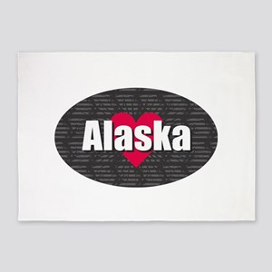 Alaska w Heart 5'x7'Area Rug