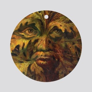 October Green Man Round Ornament