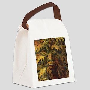 October Green Man Canvas Lunch Bag