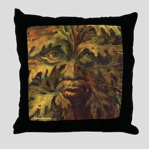 October Green Man Throw Pillow