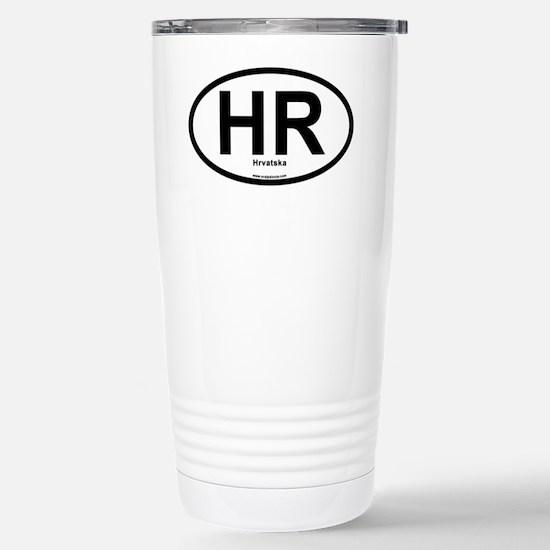 HR - Hrvatska Oval Stainless Steel Travel Mug