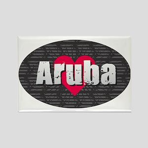 Aruba w Heart Magnets