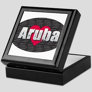 Aruba w Heart Keepsake Box