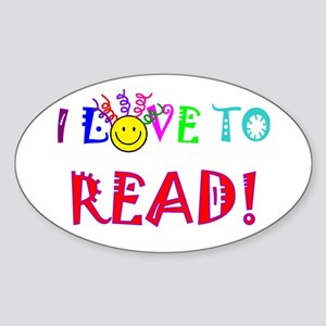 Love to Read Sticker (Oval)