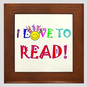 Love to Read Framed Tile