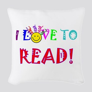 Love to Read Woven Throw Pillow