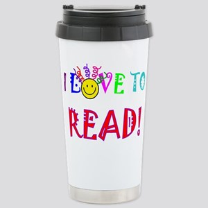 Love to Read 16 oz Stainless Steel Travel Mug