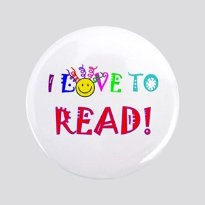 """Love to Read 3.5"""" Button"""