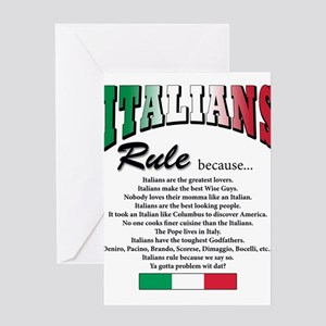 Italians Rules Greeting Cards