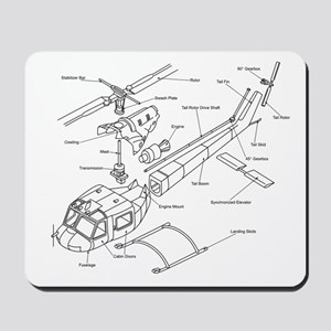 Helicopter Schematic Mousepad