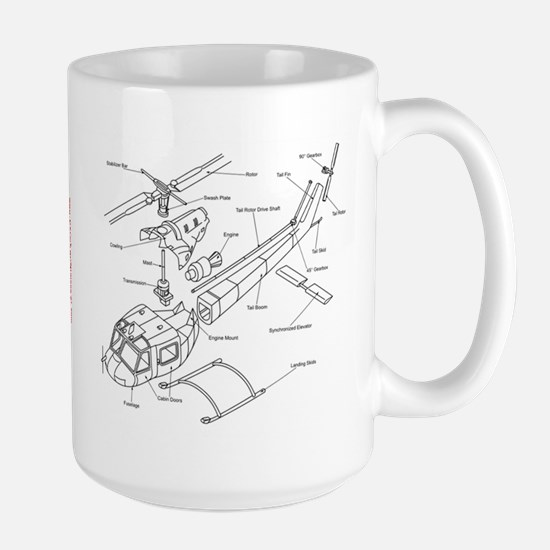 Helicopter Schematic Large Mug