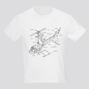 Helicopter Schematic Kids T-Shirt