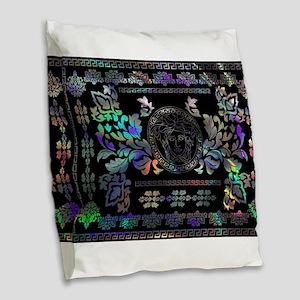 hologram Medusa Burlap Throw Pillow