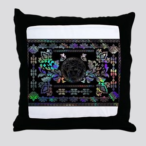 hologram Medusa Throw Pillow