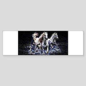 fractal horses Bumper Sticker