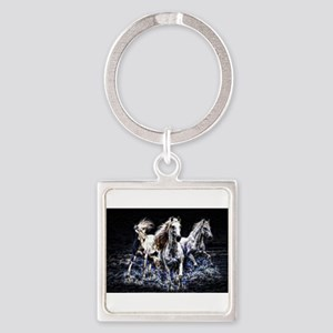 fractal horses Keychains