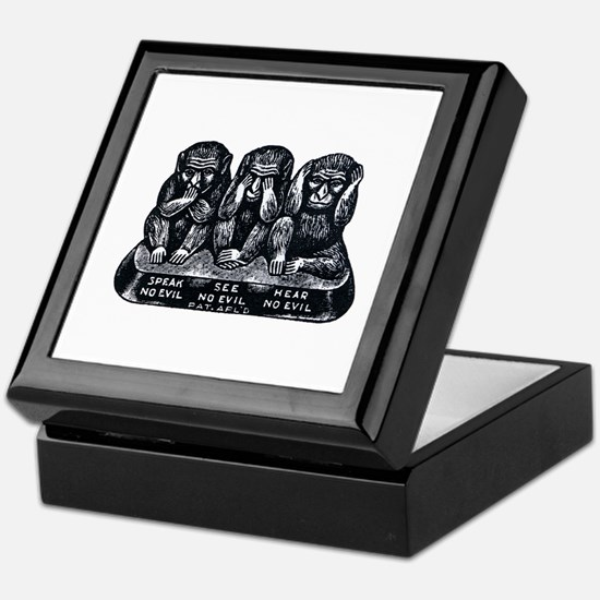 Three Monkeys Keepsake Box