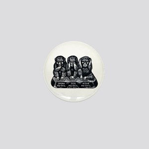 Three Monkeys Mini Button