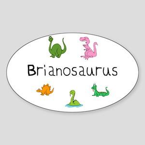 Brianosaurus Oval Sticker