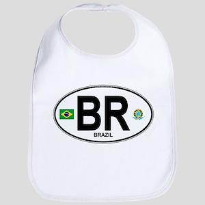 Brazil Intl Oval Baby Bib