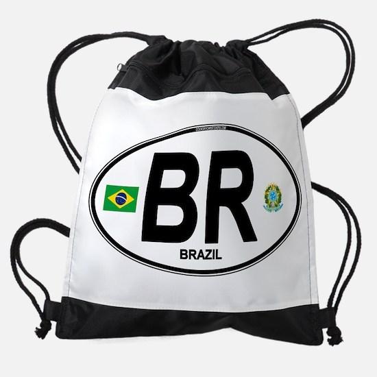 Brazil Intl Oval Drawstring Bag