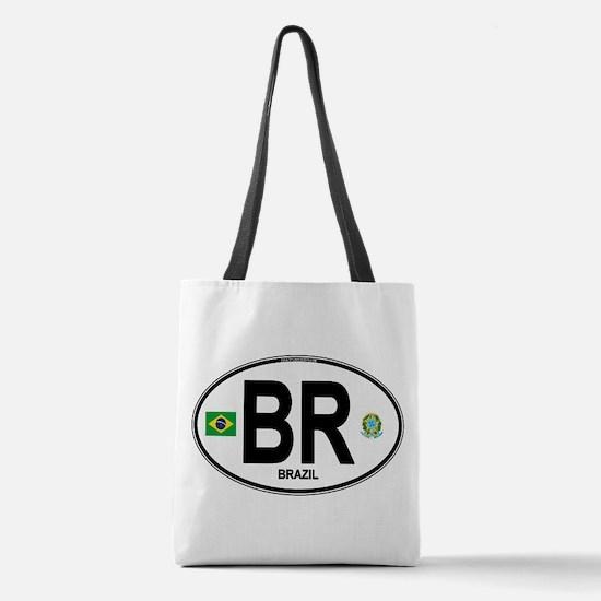 Brazil Intl Oval Polyester Tote Bag