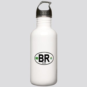 Brazil Intl Oval Stainless Water Bottle 1.0L