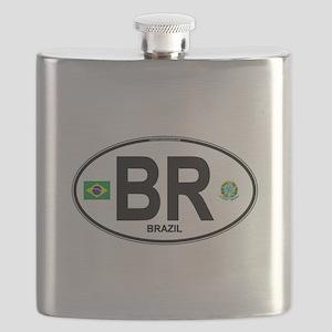 Brazil Intl Oval Flask
