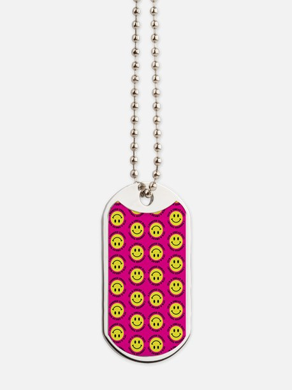 XX Pink Bright Dog Tags