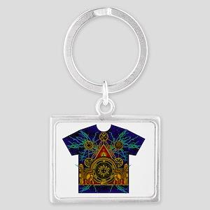 Solomons Magic Pentacle Shirt Landscape Keychain