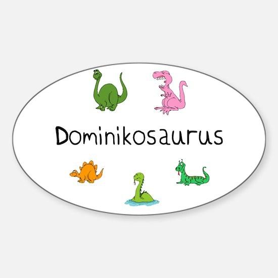 Dominikosaurus Oval Decal