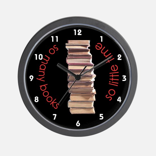 So Many Books Wall Clock