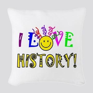Love History Woven Throw Pillow