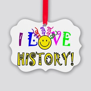Love History Picture Ornament