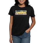 Yellow 1953 Studebaker on Women's Dark T-Shirt