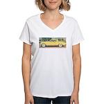 Yellow 1953 Studebaker on Women's V-Neck T-Shirt
