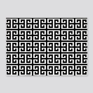 black white greek key 5'x7'Area Rug