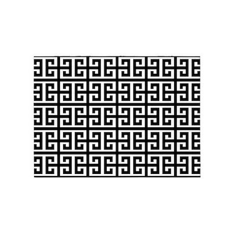 Black White Greek Key 5 X7 Area Rug