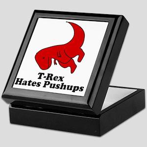 trex hates pushups funny Keepsake Box