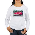 Red 1953 Studebaker on Women's Long Sleeve T-Shirt