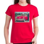 Red 1953 Studebaker on Women's Dark T-Shirt