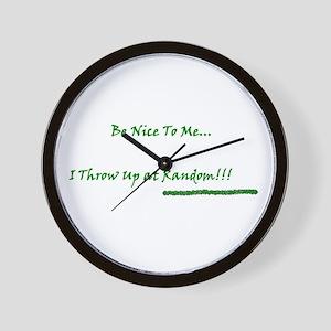 Be Nice To Me Wall Clock