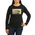 Two '53 Studebakers on Women's Long Sleeve Dark T-