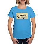 Two '53 Studebakers on Women's Dark T-Shirt