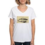 Two '53 Studebakers on Women's V-Neck T-Shirt
