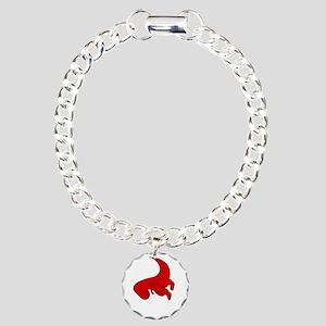 t-rex hates pushups Charm Bracelet, One Charm