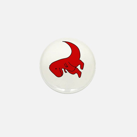t-rex hates pushups Mini Button